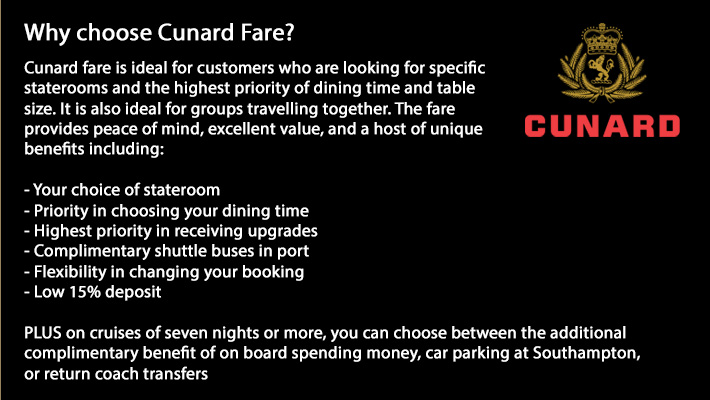Cunard 2018/19 Cruises